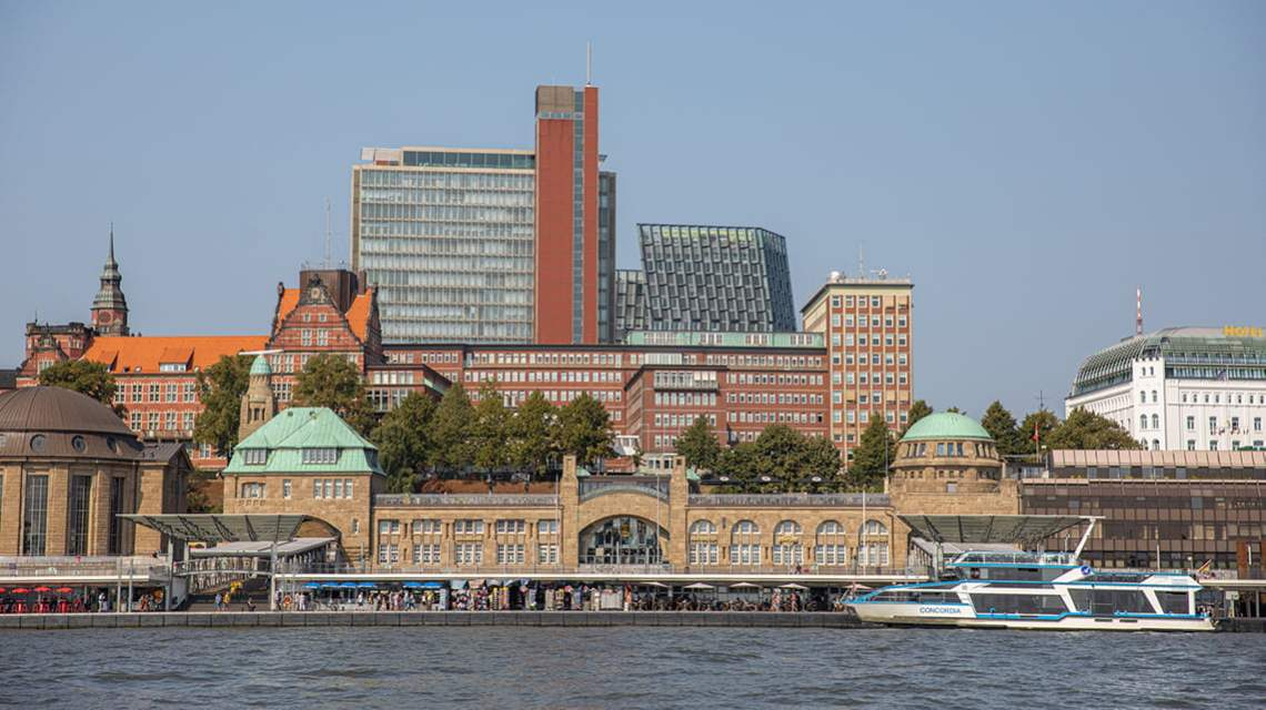 Hamburg from the Elbe river