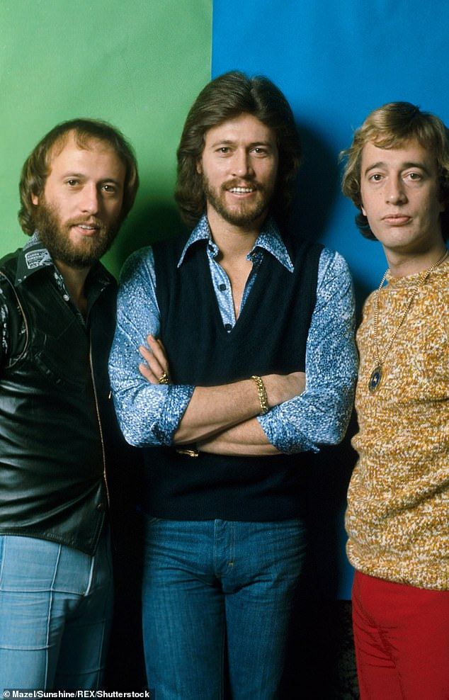 After searching for his biological parents his entire life, Nick met Patti in 2003, and discovered she worked with the Bee Gees (pictured) as a studio manager, enjoying a close relationship with the band - Gibb brothers Barry, Robin and Maurice