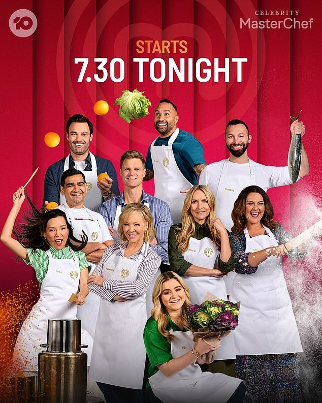 Exciting:Celebrity MasterChef Australia will premiere on Sunday at 7.30pm on Channel 10