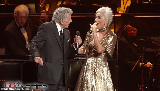 Close friends:Gaga's shows will open with a recorded message from close friend Tony Bennett, 95, and the star's set will be 'sprinkled with jazz renditions