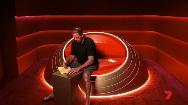 Pen to paper: The promo then shows Markle Jr in the Big Brother diary room preparing to write a letter to the Duke and Duchess of Sussex