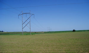 """If utilities and Leech Lake officials agree, power companies would erect """"H"""" style transmission towers across the reservation. (Submitted photo)"""