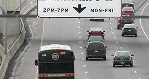 MnDOT converted existing high-occupancy lanes to MnPass lanes on I-35W and I-394, pictured. Brad Larsen, MnDOT's MnPass policy director, says the I-35E project is noteworthy because it's adding new lanes. (File photo: Bill Klotz)