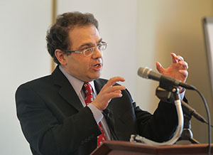 The Federal Open Market Committee intends to maintain low interest rates as long as unemployment is above 6.5 percent and the outlook for inflation doesn't exceed 2.5 percent. Minneapolis Fed President Narayana Kocherlakota, pictured, has urged the Fed to change that guidance on interest rates, calling for a lower unemployment rate threshold. (File photo: Bill Klotz)