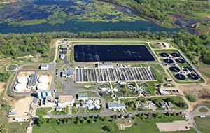 The Metropolitan Council's Blue Water Wastewater Treatment Plant in Shakopee is the fourth largest wastewater treatment plant in Minnesota. It treats an average of 29 million gallons of wastewater daily from 285,000 residents, according to the Met Council. (Submitted photo by Bordner Aerials)