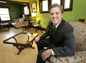 """""""A good trademark tells people that you're serious about your business,"""" says Minneapolis trademark attorney Matt Kulseth. (Staff photo: Bill Klotz)"""