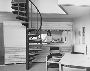 The Stadium Apartments, built in 1973, featured spiral staircases and views of the football stadium. (Submitted photo: UMD Archives)