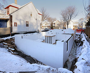 Students have already laid part of the foundation for the home at 462 Edmund St. in St. Paul's Frogtown neighborhood. (Staff photo: Bill Klotz)