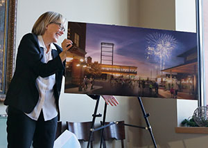 Julie Snow, who unveiled the design for the St. Paul Saints ballpark in December, has been involved in designing the 7,000-seat stadium for seven years, long before it came to the public's attention. (Staff photo: Bill Klotz)