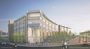 Planning is moving forward for a proposed $90 million Senate office building project just north of the Capitol. (Submitted rendering)