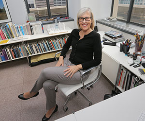 Julie Snow now employs 18 people in the namesake architecture firm she started in 1995. The firm's offices are in the Rand Tower, 527 Marquette Ave. in Minneapolis. (Staff photo: Bill Klotz)