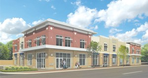 Goodwill's proposed new building at 1221 W. University Ave. in St. Paul would be two stories tall and would feature 20,000 square feet of retail space, 5,000 square feet for donations processing and another 3,500 square feet for offices. (Submitted rendering: DJR Architecture Inc.)