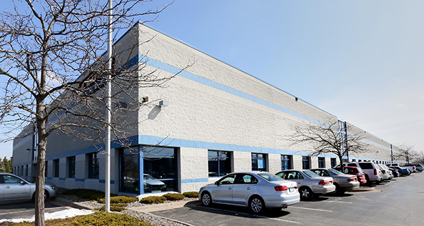 The Northland Interstate Business Center V building, at 7601 Northland Drive in Brooklyn Park, is one of three industrial properties in Brooklyn Park sold last week. The building is a little more than half-leased. (Staff photo: Bill Klotz)