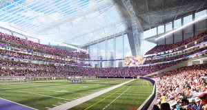 """The roof of the Minnesota Vikings stadium will be stationary, but it will also be anything but ordinary. The most ambitious use of ETFE, or ethylene tetrafluoroethylene, on a U.S. project will lend a transparent look to the roof. """"It's always exciting to work with new materials and apply them to new situations,"""" said Stacee Demmer, a project architect with Studio Five. (Submitted rendering)"""