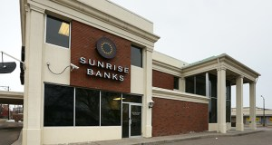 Sunrise Banks fosters community development, providing the lion's share of its services to economically struggling neighborhoods. The company's headquarters are at 200 University Ave. W. in St. Paul, above. (Staff photos: Bill Klotz)