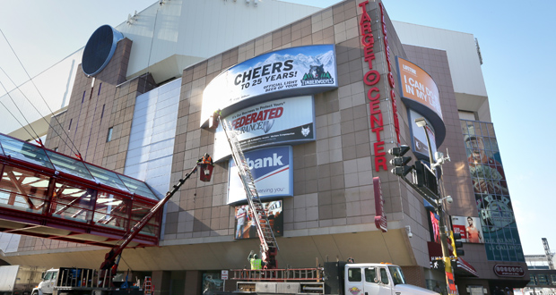 The construction manager for the renovation of Target Center is expected to be selected by mid-June. The project will include both an exterior and interior remake. (Staff photo: Bill Klotz)