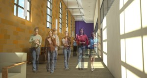 St. Catherine University in St. Paul has hired Opus Group to renovate 10,000 square feet in its Fontbonne Hall building, as seen in this submitted rendering. (Submitted rendering: Opus Group)