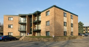The 108-unit Hillside East Apartments at 369-391 Old Highway 8 SW in New Brighton are among three properties St. Louis Park-based Sidal Realty Co. is selling to invest in new apartment projects. (Submitted photo: CoStar)