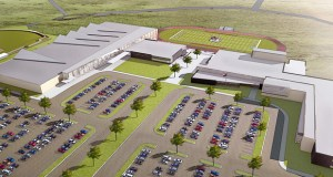 Site work is expected to begin next month on a new high school and event center in Watford City, North Dakota, as seen in this submitted rendering. (Submitted rendering: JLG Architects)