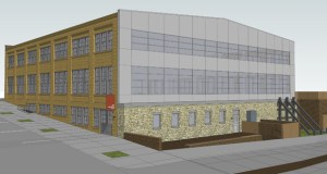 Minneapolis-based Schafer Richardson plans to convert the former machine shop at 300 Second St. SE in Minneapolis into an office and retail building. Project construction is expected to begin this summer. (Submitted rendering: Cermak Rhoades Architects)