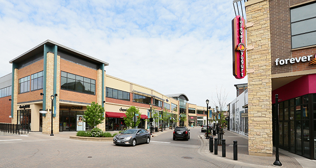 The Shops at West End development, a 350,000-square-foot retail and entertainment complex in St. Louis Park, is home to several retailers and a covered outdoor arcade. (Staff photo: Bill Klotz)