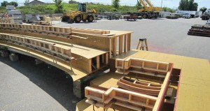 McGough Construction created forms like this one in its White Bear Lake warehouse and transported them to the Ordway Center for the Performing Arts construction site in downtown St. Paul. The forms were then filled with concrete and assembled on the site.  (Submitted photo: McGough)