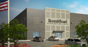 Golden Valley-based Room & Board will occupy a 485,804-square-foot distribution center at 6601 Queens Ave. NE in Otsego. The building will be developed by Duke Realty. (Submitted rendering)