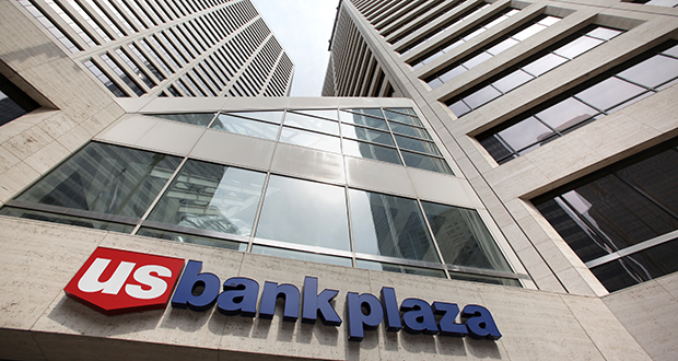 U.S. Bancorp says commercial loans increased 12 percent to $75 billion in the second quarter from a year earlier. This photo shows U.S. Bank Plaza in downtown Minneapolis. (File photo: Bill Klotz)