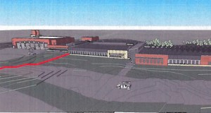 The Minnesota National Guard is asking for new bids for a proposed $20 million armory in Stillwater. The project will be built on a 19-acre site at Myrtle Street and Maryknoll Drive. (Submitted rendering)