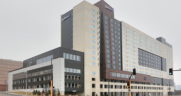 The Radisson Blu hotel project at the Mall of America is among the first hotels in the state to win a LEED designation. (Staff photo: Bill Klotz)