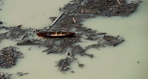 This Tuesday aerial photo shows the damage caused by a tailings pond breach on Lake Polley, British Columbia. The minister responsible for British Columbia's mines says residents living along waterways affected by a mining-waste spill could catch a lucky break because the waste may not be poisonous. (AP Photo/The Canadian Press: Jonathan Hayward)