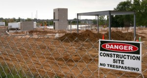 Foundations are rising at 2195 Century Ave. in Woodbury, where the 77-unit Red Rock Senior Living development is under construction. Overall, the Twin Cities have seen permits for 393 new multifamily units in September, down 59 percent from a year ago. (Staff photo: Bill Klotz)