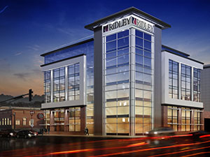 A five-story, 50,000-square-foot office building with Class A office space that will serve as the new headquarters for Mankato-based Ridley Inc. (Submitted rendering: I+S Group)