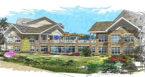 Bloomington-based United Properties Residential is using this design for a new Applewood Pointe senior cooperative at 12201 Minnetonka Blvd. in Minnetonka and a similar design for Applewood Pointe at 4785 Hodgson Road in Shoreview. (Submitted image: United Properties)