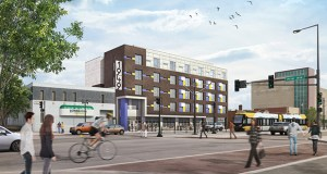 The Beacon Interfaith Housing Collaborative plans 44 studio units at 1949 W. University Ave. on the Green Line in St. Paul. It's one of several transit-oriented projects awarded funding from the Minnesota Housing Finance Agency. (Submitted rendering)