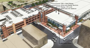 The cost of adding a skyway or covered walkway has prompted St. Cloud to instead consider expanding the River's Edge Convention Center when it builds a parking ramp planned for the facility. (Submitted rendering: HMA Architects)
