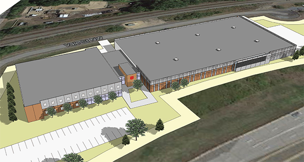 The Salvation Army proposes a 107,000-square-foot donation processing and supportive housing facility for adults in a drug and alcohol rehabilitation program on Coon Rapids Boulevard in Coon Rapids. (Submitted rendering)