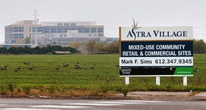 Ryan Cos. US Inc. has the option to develop a business park on 150 acres south of Highway 610 in Brooklyn Park. An unnamed retailer is interested in locating at the southwest corner of Highway 610 and Zane Avenue to support the business park. (Staff photo: Bill Klotz)