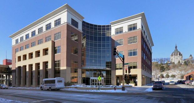 The Nasseff Specialty Center is at 225 Smith Ave. N. in St. Paul, just east of United Hospital. (Staff photo: Bill Klotz)