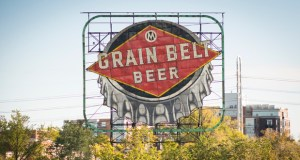 The 50-foot-wide sign was built in 1941 and was moved to its current location in 1950. (Submitted photo: August Schell Brewing Co.)