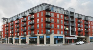 Schafer Richardson has opened the 130-unit Red20 apartments in northeast Minneapolis, at 20 Sixth St. NE. The building is about 46 percent leased, ahead of schedule so far. ((Staff photo: Bill Klotz))