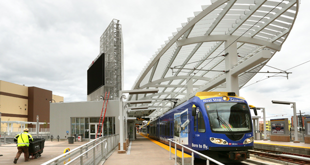 Target Field Station, a 104,000-square-foot transit hub and public plaza near downtown Minneapolis, was a recipient of a national award from the American Institute of Architects. (File photo: Bill Klotz)