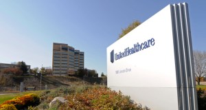 This Oct. 16, 2012, photo shows a portion of The UnitedHealth Group Inc.'s campus in Minnetonka. UnitedHealth reported fourth-quarter earnings Wednesday that topped Wall Street expectations. (AP file Photo)