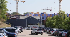 The Mill Street parking lot in Wayzata could be the site of a future parking ramp. The Promenade redevelopment seen in the background is currently well underway. (File photo: Bill Klotz)