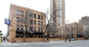 The Maryland, a 79-unit apartment building at 1346 LaSalle Ave., is one of 10 Minneapolis apartment buildings set for rehabilitation this year as part of a major renovation and refinancing plan aimed at preserving affordable housing options in the city. (Submitted photo: CoStar)