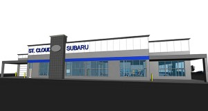 This is the design the owner of St. Cloud Subaru has developed for the new dealership he plans to create from a former Toys R Us store he acquired at 141-145 Park Ave. S. in St. Cloud. (Submitted image)
