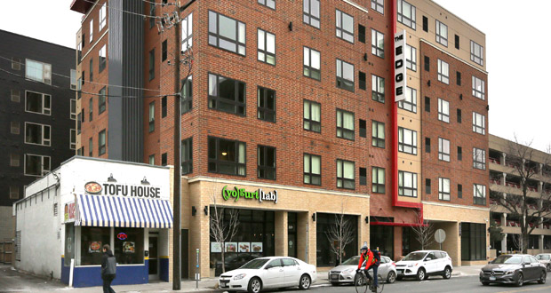 The Doran Cos. opened the Edge on Oak student apartments at 311 Oak St. SE in Minneapolis in 2012. (Staff photo: Bill Klotz)