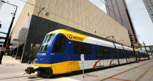 The Metro Green Line light rail route is among the 27 Finance & Commerce 2015 Progress Minnesota honorees. The Metropolitan Council estimates the Green Line has helped spur $2.5 billion of development and redevelopment within a half-mile of the stations along the route between the downtowns of St. Paul and Minneapolis. (File photo: Bill Klotz)