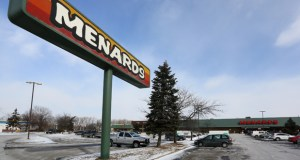 Home improvement retailer Menards plans to tear down this existing store at 7800 Lakeland Ave. N. in Brooklyn Park and replace it with a 210,940-square-foot store. Construction is expected to begin this spring. (Staff photo: Bill Klotz)