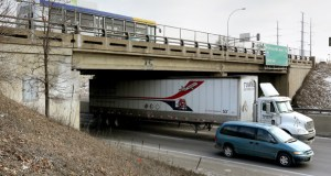 Gov. Mark Dayton on Tuesday unveiled a list of 600 projects that he says would happen if his 10-year transportation funding plan is approved. The list includes this bridge, which carries Nicollet Avenue over Interstate 494 between Richfield and Bloomington. (Staff photo: Bill Klotz)